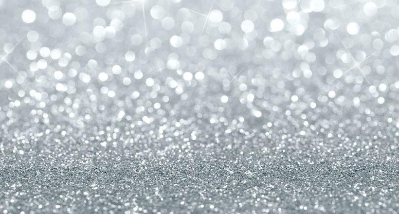 Glitry - stříbrná